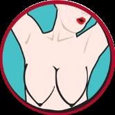 Форма бюста арбузом