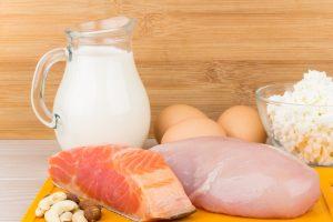 Рыба, мясо, молочные продукты и яйца