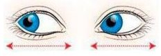 двигать глаза в стороны