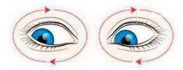 Схема упражнения от отека под глазами