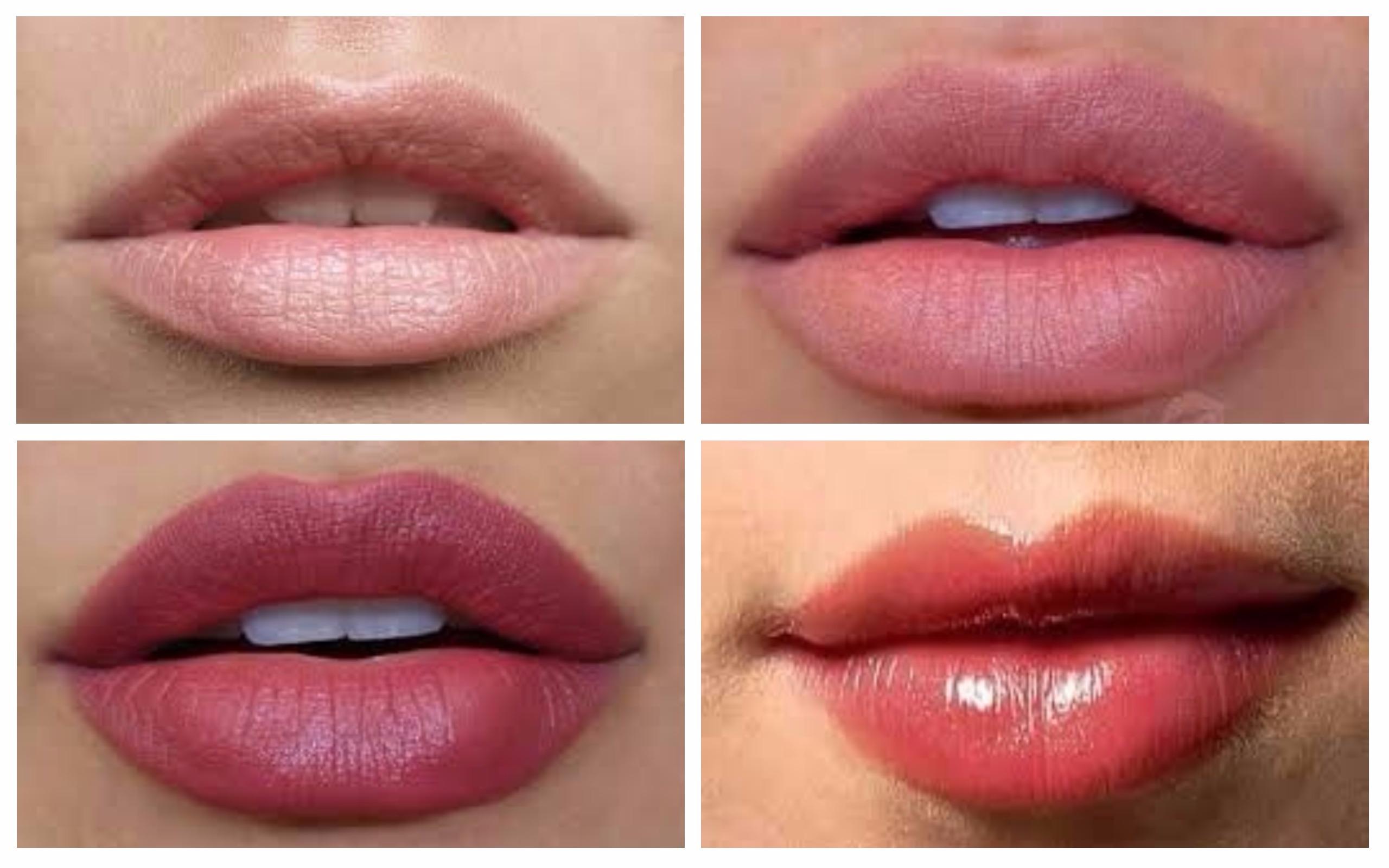 увеличение губ коллаж