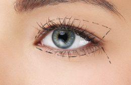 фото глаза с намеченным пунктиром