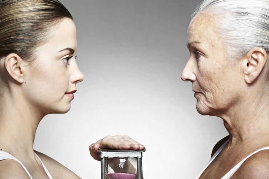 Старое лицо и молодое лицо