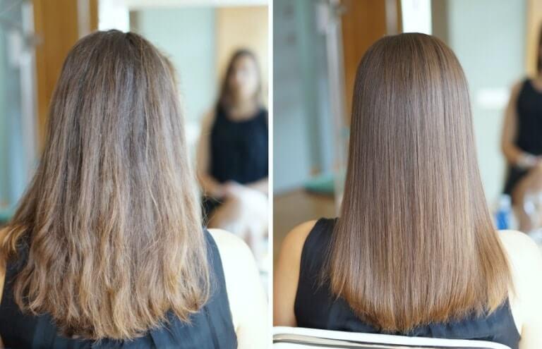 Ботокс для волос Иноар до и после
