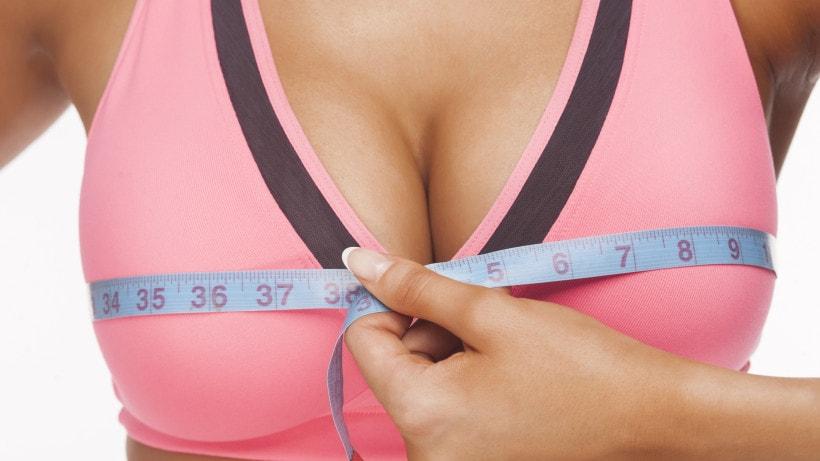 Измерение размеров бюста