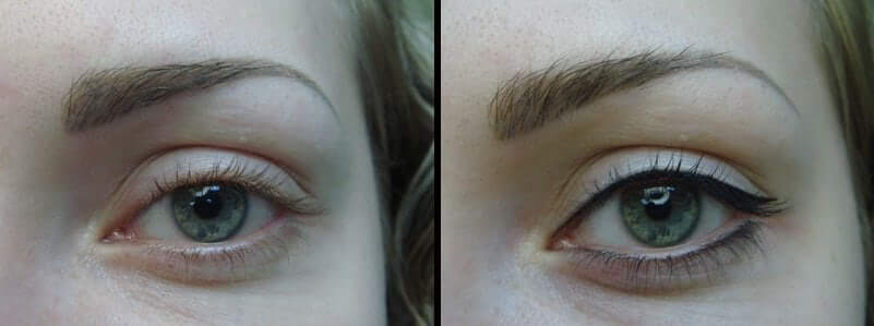 Перманентный макияж глаз до и после