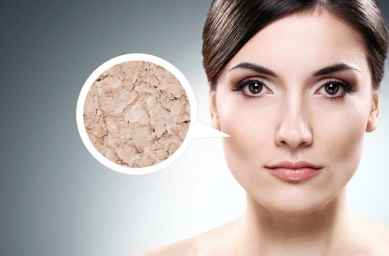Увеличенная кожа лица