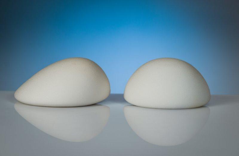 Грудные импланты разной формы