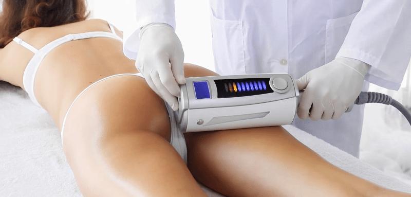 Проводится эндосфера-терапия на теле