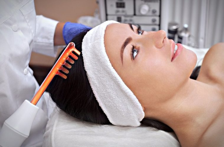 Дарсонвализация волосистой части головы