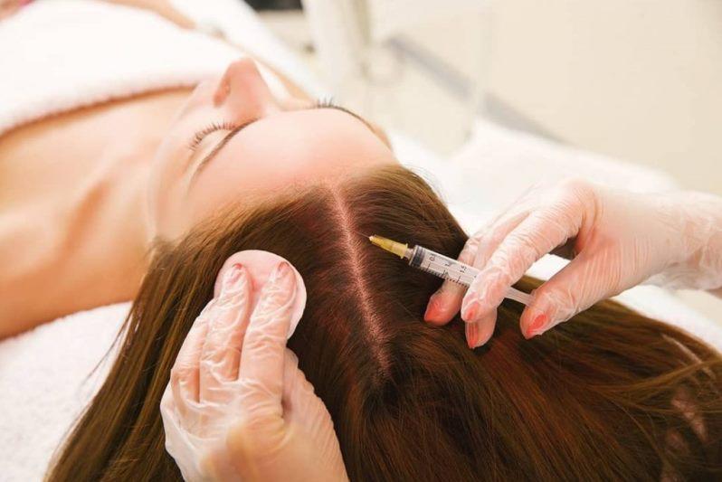 Мезотерапия для волос в салоне