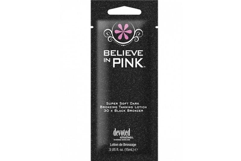 Крем для загара в солярии Believe in Pink Black Bronzer