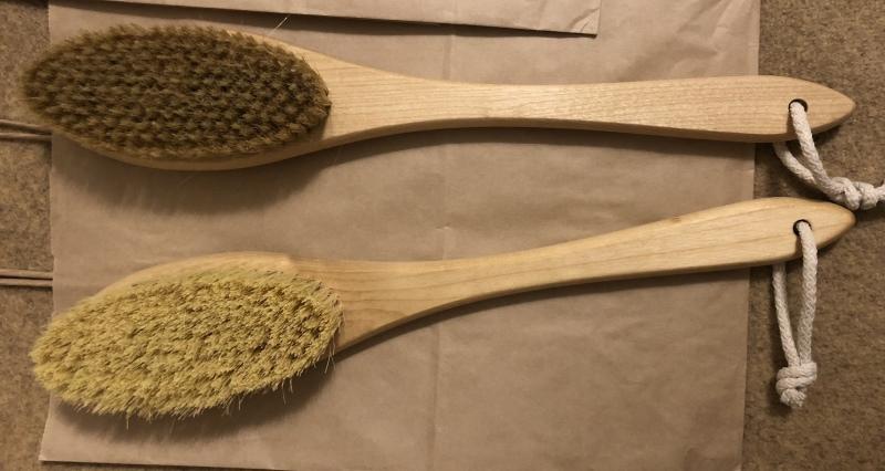Щетка для сухого массажа кактус