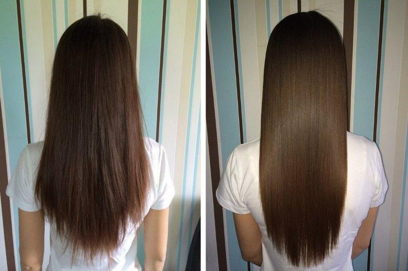Ламинирование волос: фото до и после