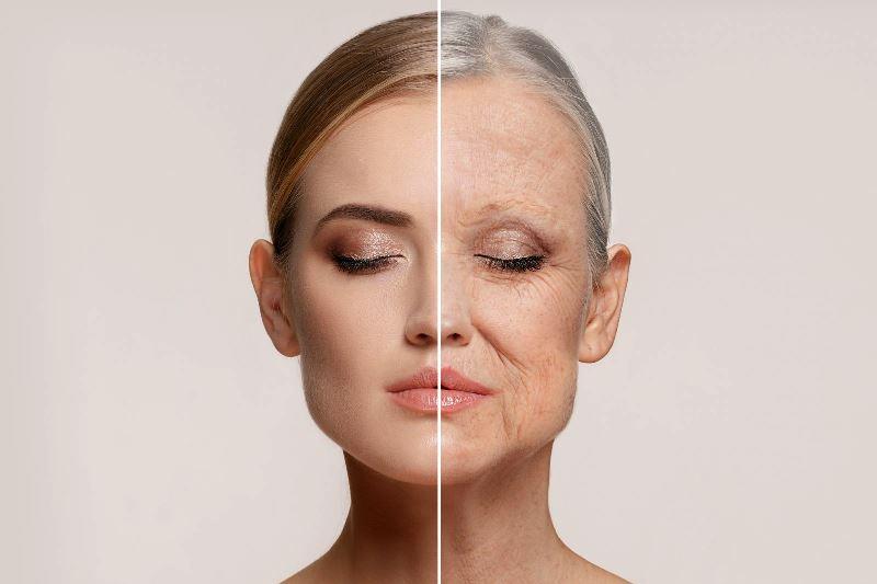 Фотостарение кожи на фото